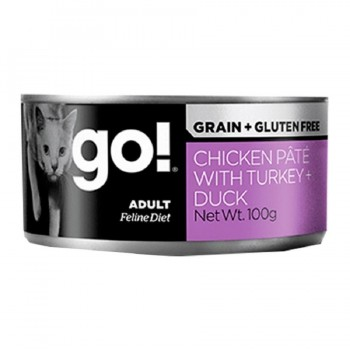 GOGATO grain free CHICKEN,TURKEY,DUCK PATE 6X100 G.