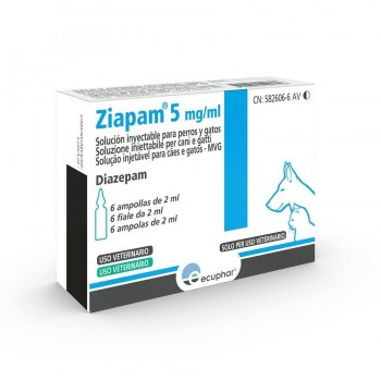 ZIAPAM 5 mg/ml 6 ampx2ml