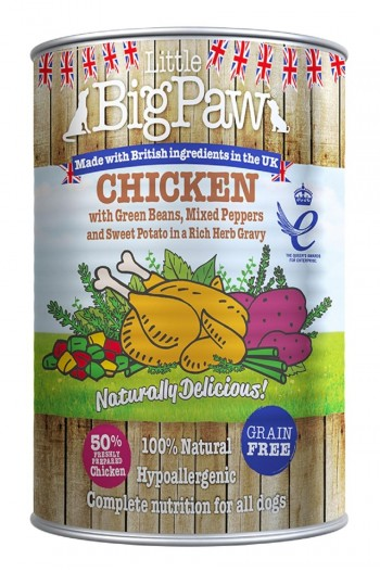 LBPDOG CHICKEN with beans, peppers and sweet potato 12X390 grs
