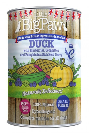 LBPDOG DUCK with blueberries, courguettes and pumpkin 12x390 grs