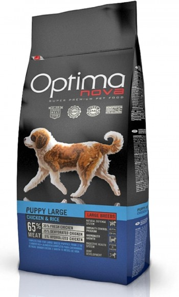 OPTIMA NOVA CANINE PUPPY LARGE  con pollo y arroz