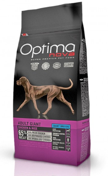 OPTIMA NOVA CANINE ADULT GIANT 12 KGS  con pollo y arroz