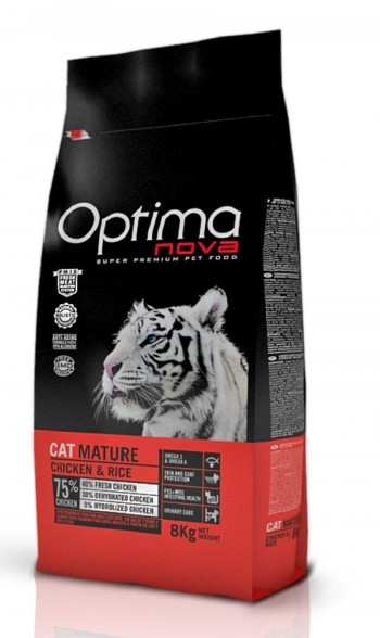 OPTIMA NOVA FELINE MATURE con pollo y arroz