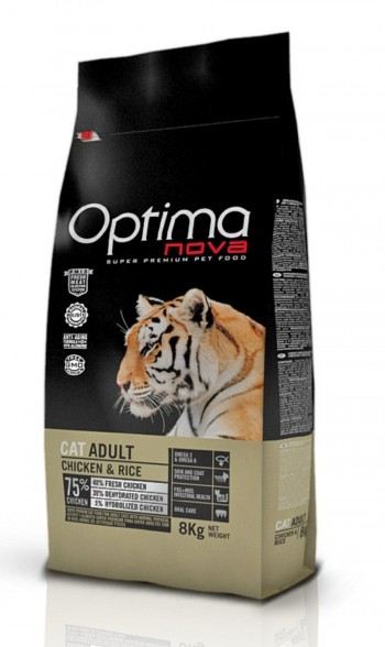 OPTIMA NOVA FELINE ADULT con pollo y arroz