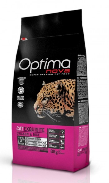 OPTIMA NOVA FELINE EXQUISITE pollo y arroz