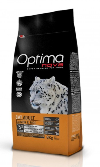 OPTIMA NOVA FELINE ADULT Salmón y arroz