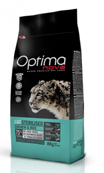 OPTIMA NOVA FELINE STERILISED  con pollo y arroz