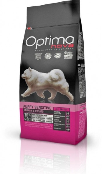 OPTIMA NOVA GRAIN FREE CANINE PUPPY SENSITIVE con salmón y patata