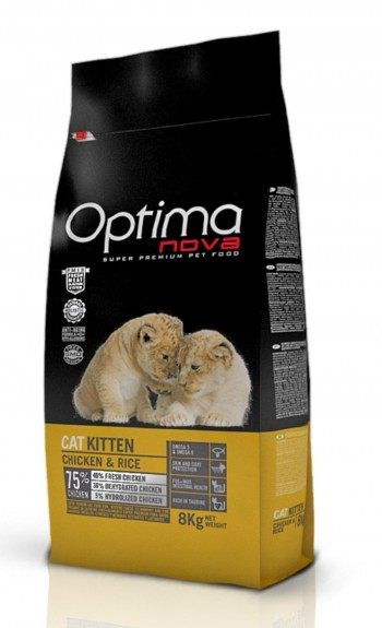 OPTIMA NOVA FELINE KITTEN  con pollo y arroz
