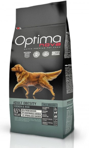 OPTIMA NOVA CANINE OBESITY  con pollo y arroz